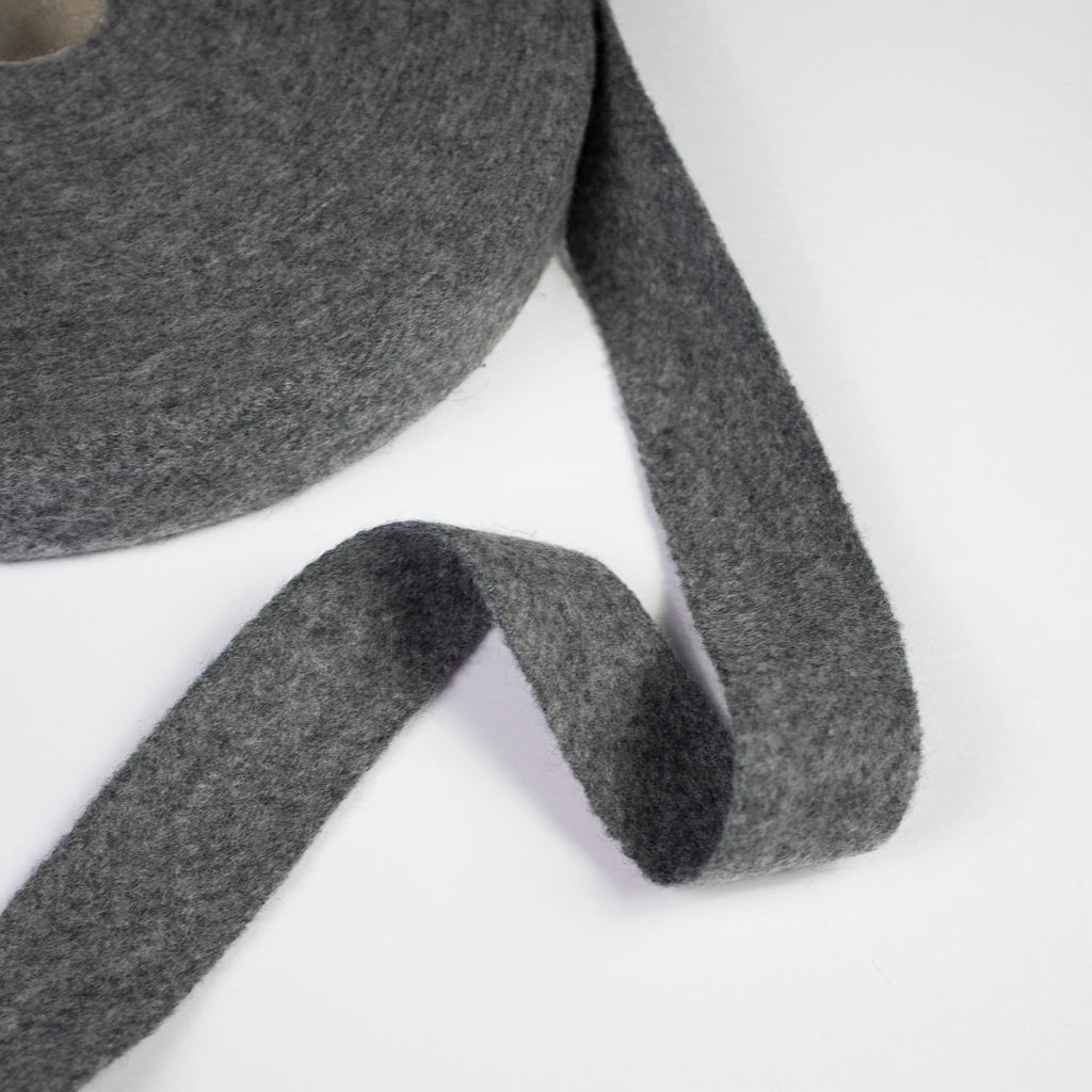 Grey Wool Bias Tape 30mm
