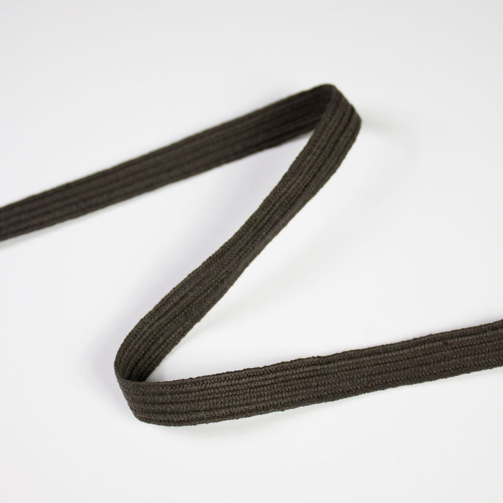 Dark Brown Cotton Ribbon 10mm