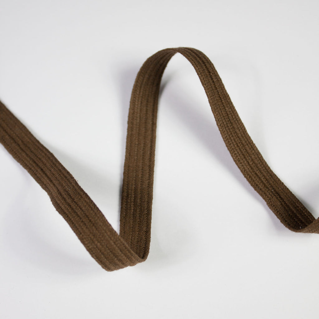 Coffee Brown Cotton Ribbon 10mm