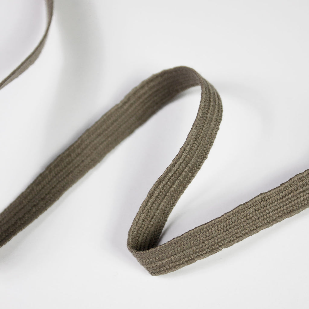 Taupe Cotton Ribbon 10mm