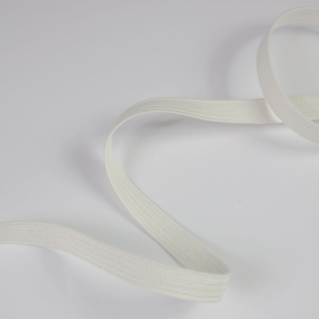 White Cotton Ribbon 10mm