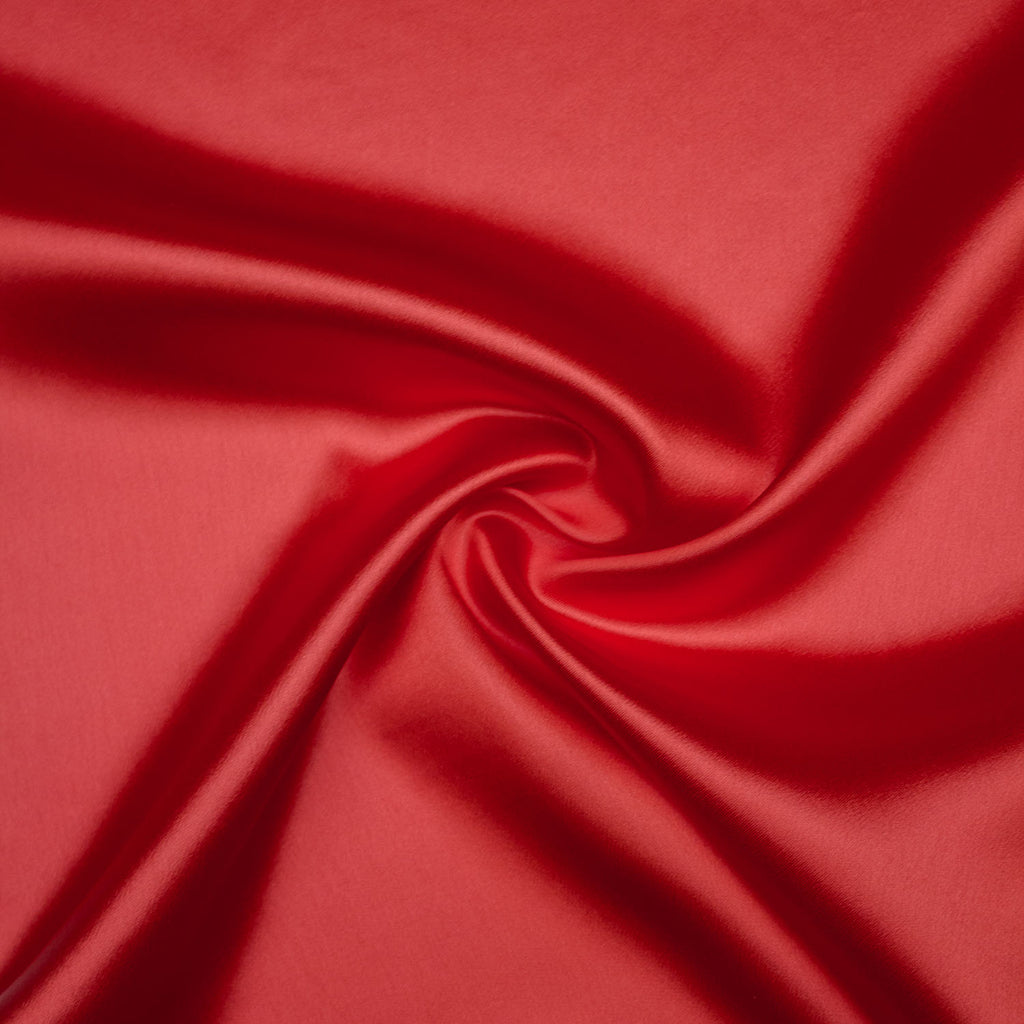 Trella Red Satin Viscose
