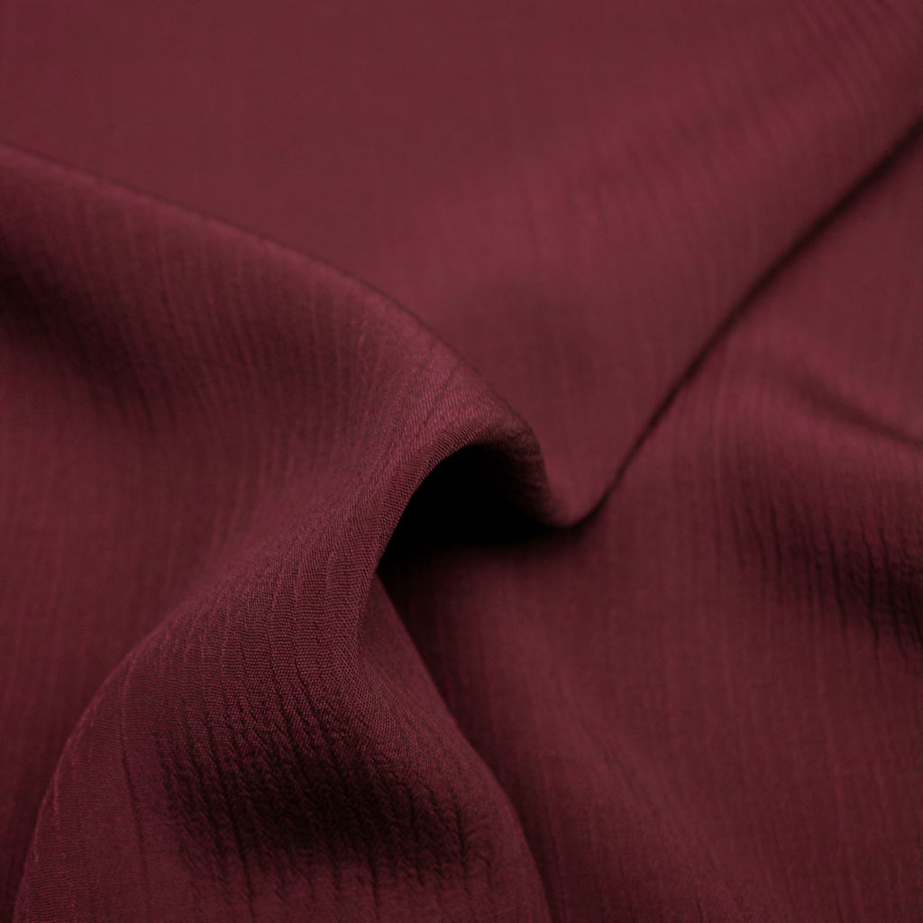 Teela Wine Red Viscose Crepe