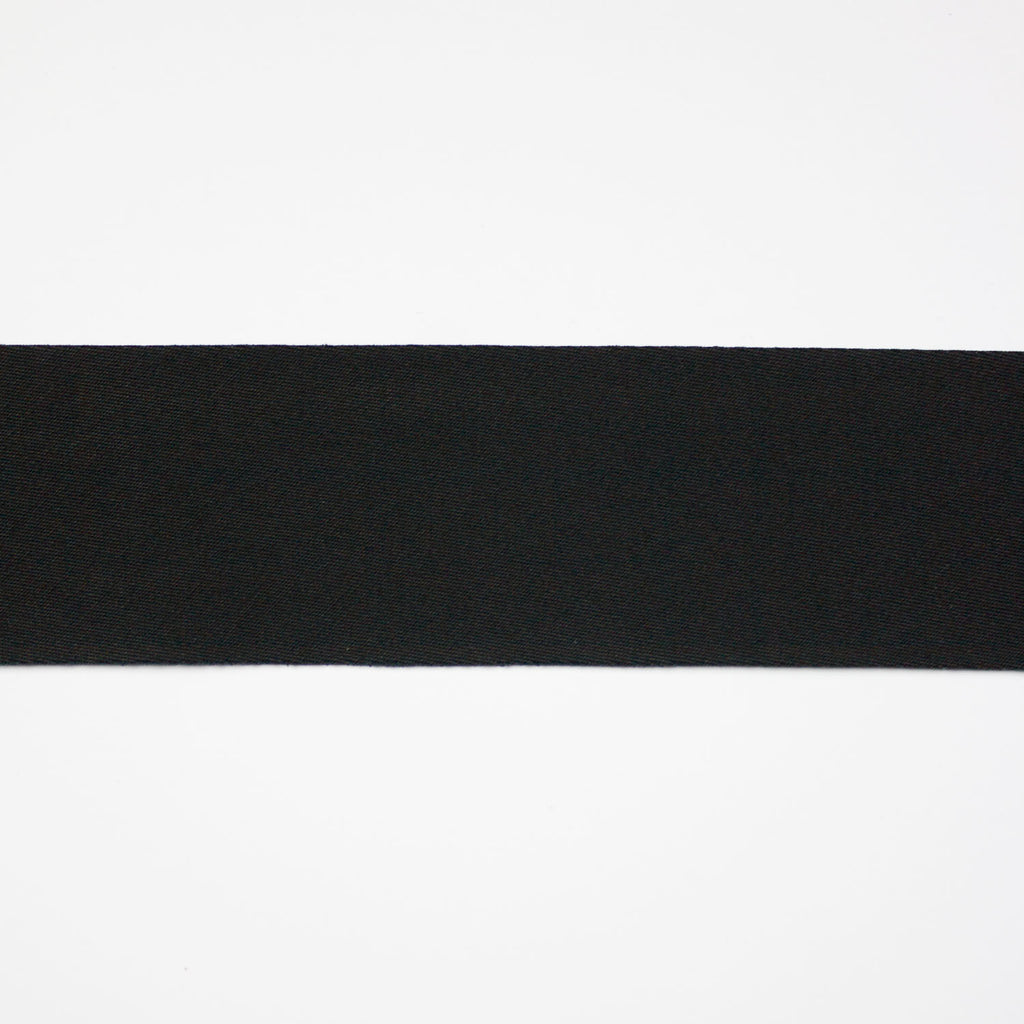 Clara Black Cotton Bias Tape 40mm
