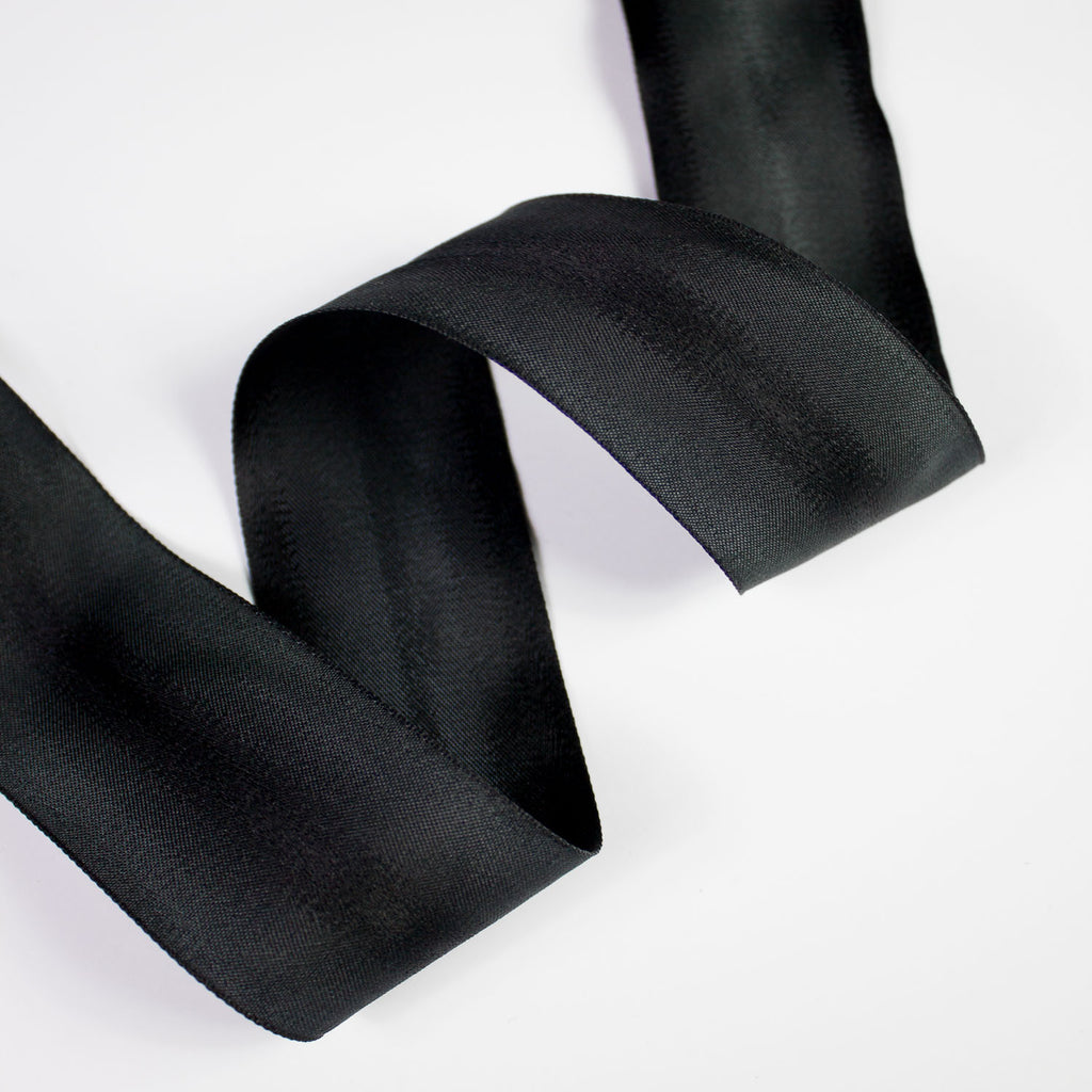 Black Silk Bias Tape 45mm