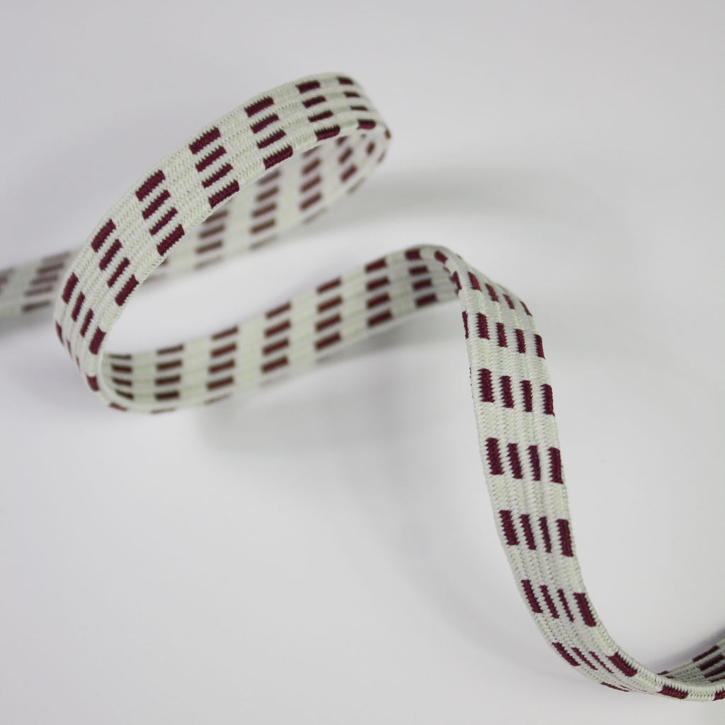 Bordeaux Abstract Elastic Band 10mm