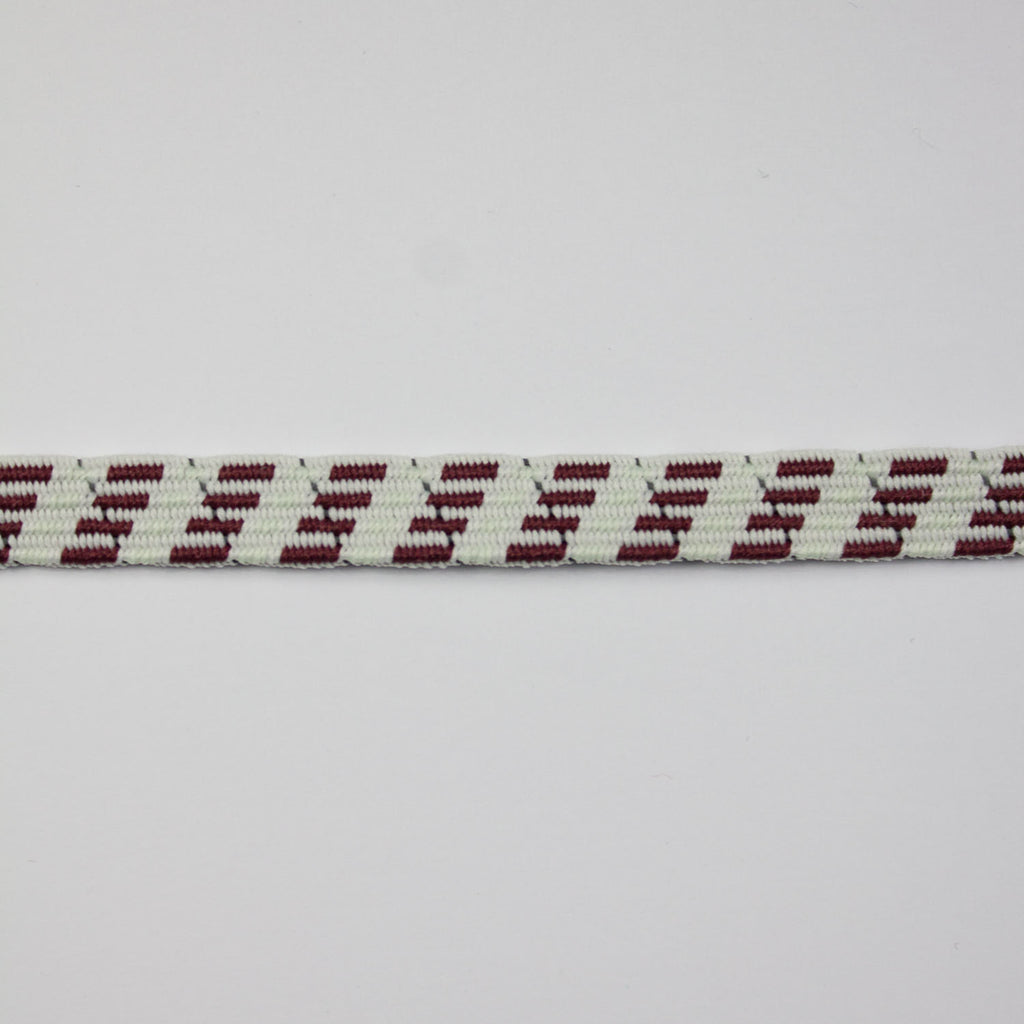 Wine Red Abstract Elastic Band 10mm
