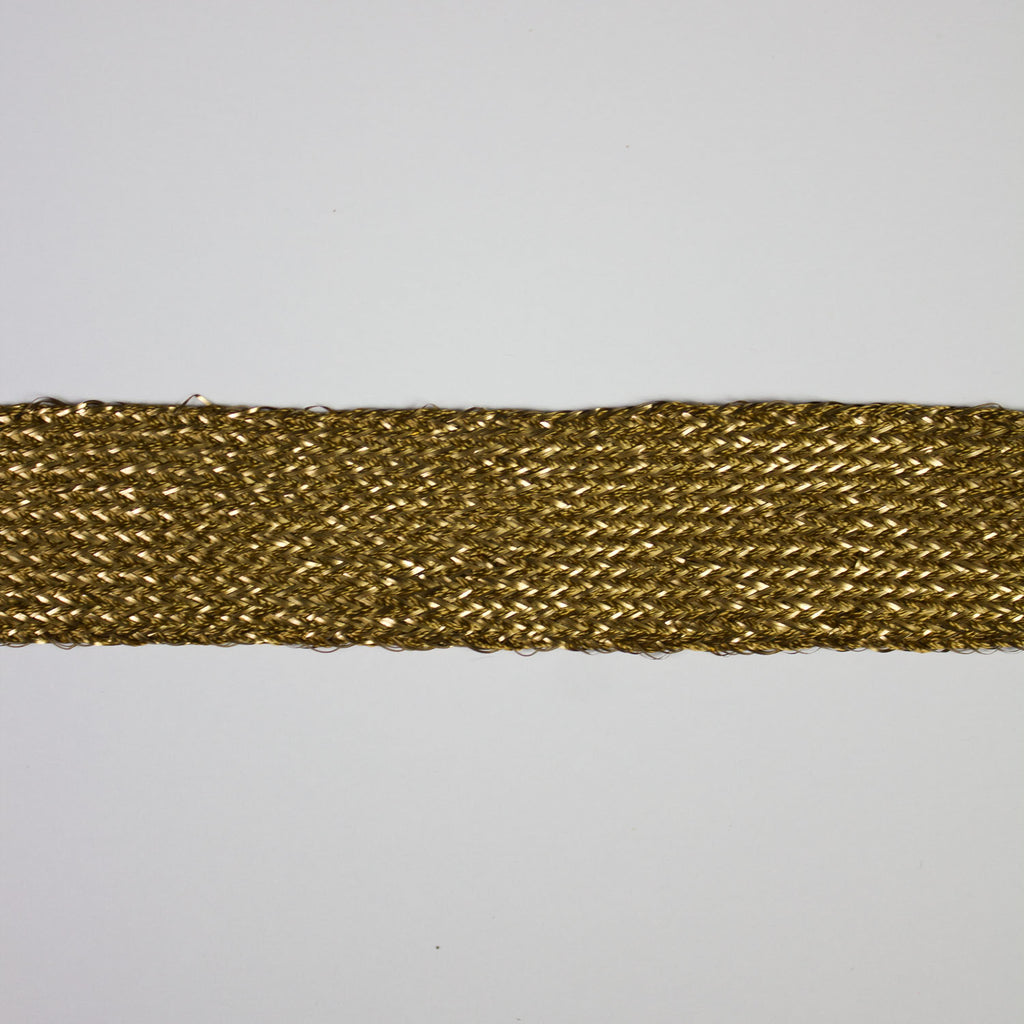 Gold Silk & Lurex Ribbon 25mm