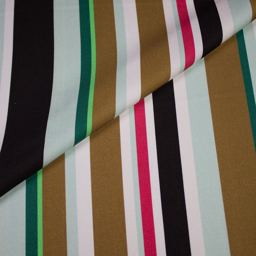 Luca Multicolour Striped Viscose
