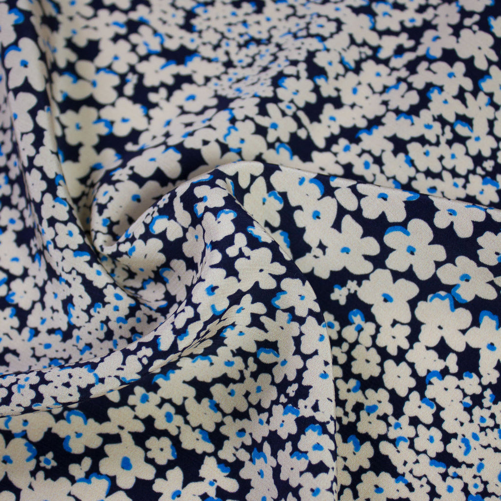 Charline Navy Floral Printed Viscose