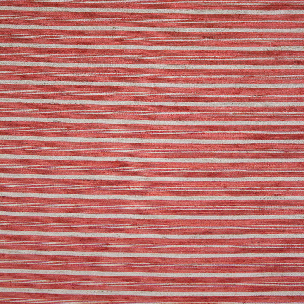 Martha Watermelon and Beige Striped Linen Cotton Blend