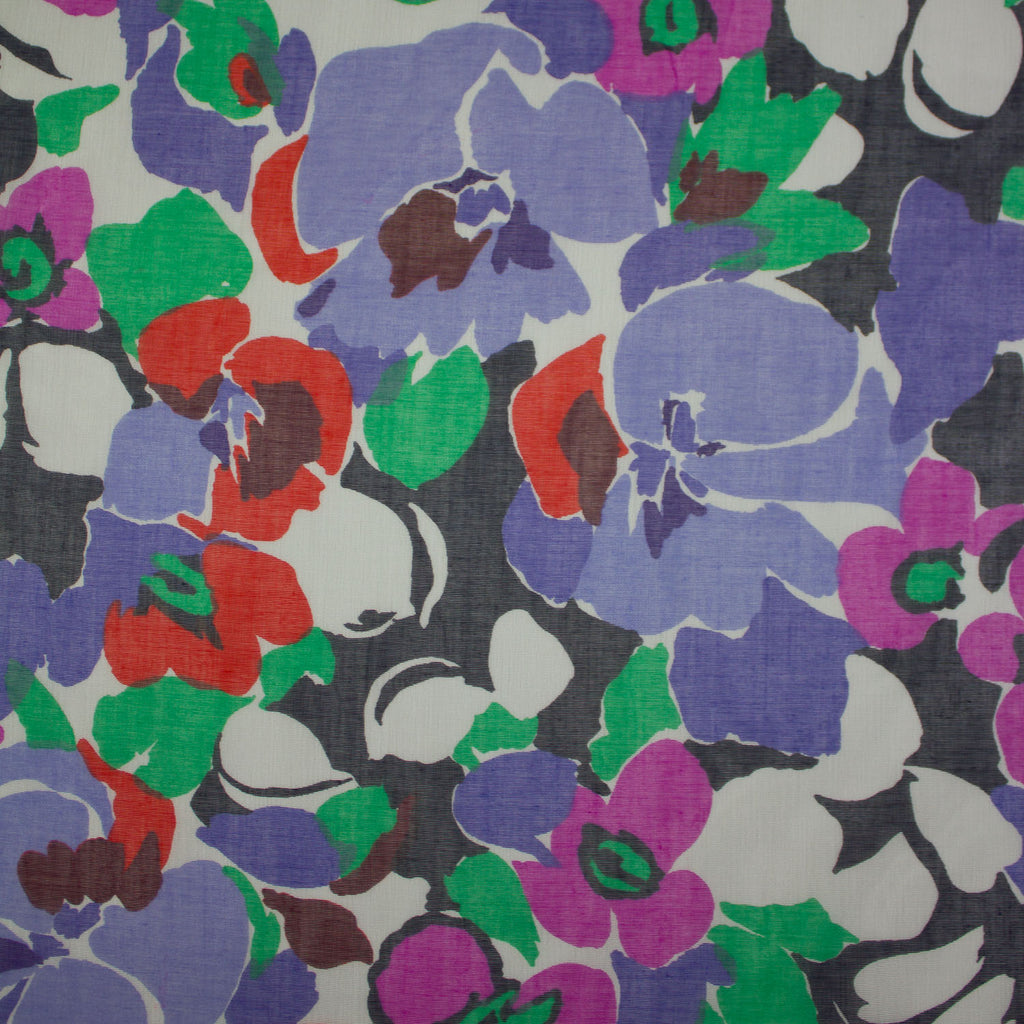 Florida Multicolour Floral Cotton Voile