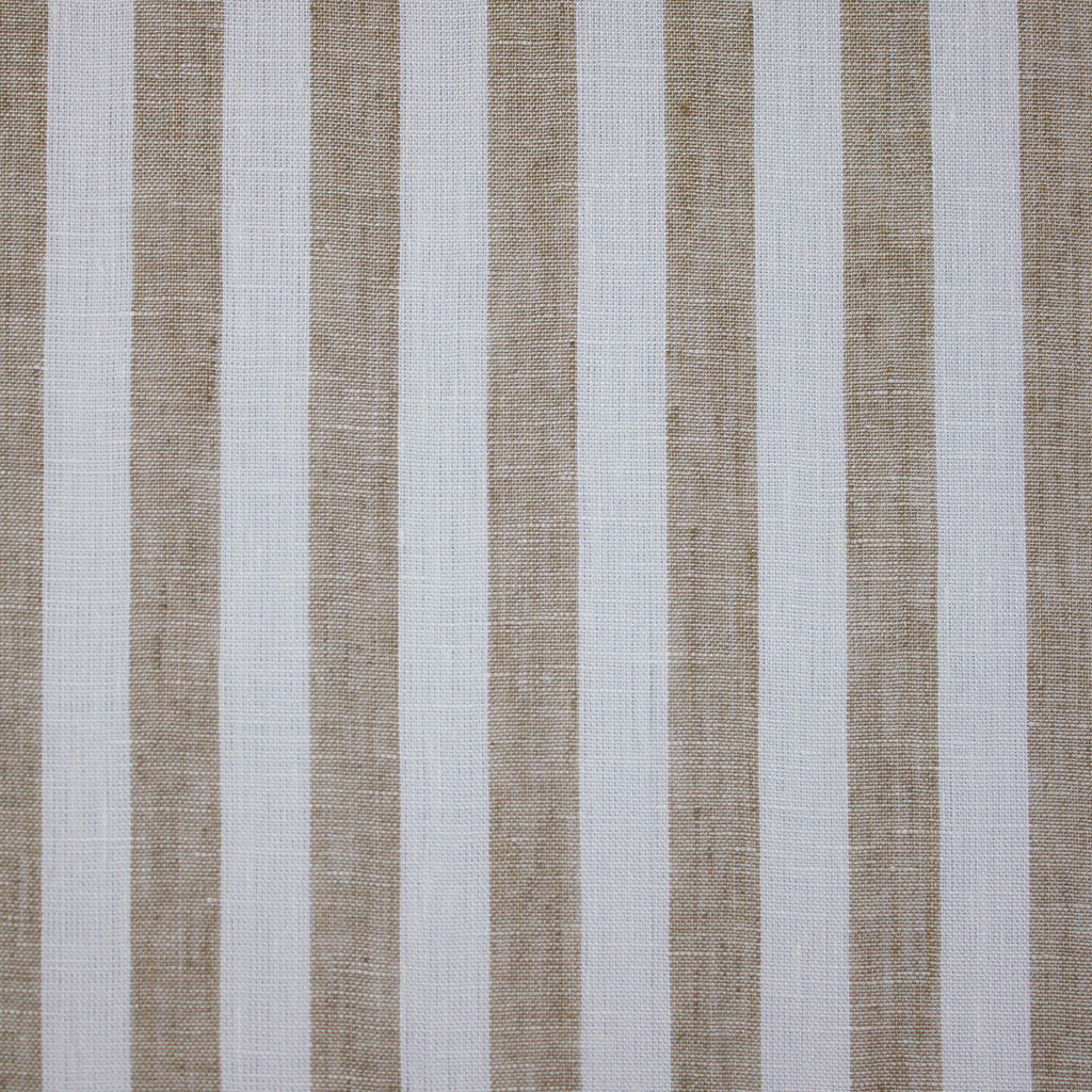 Ina Off-white Beige Striped Linen