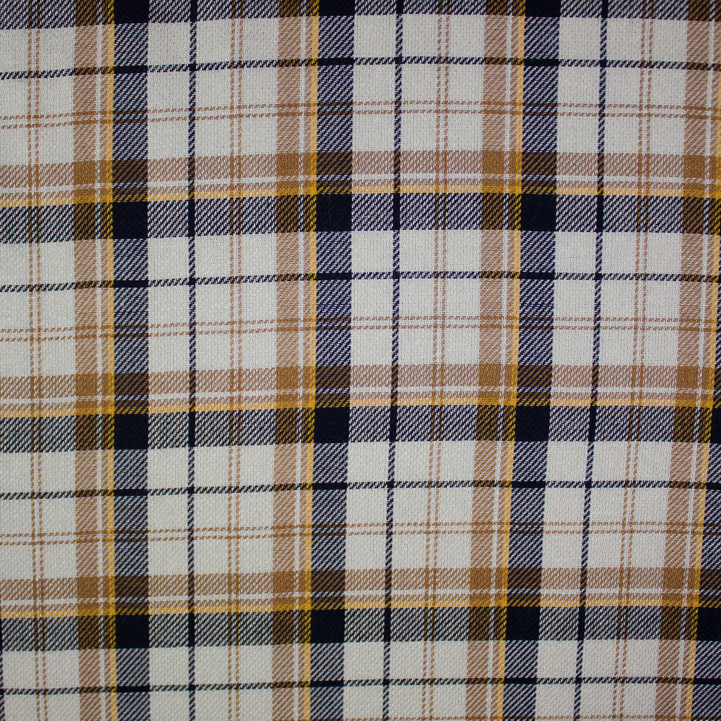 Pat Off-White Brown Cotton Tartan