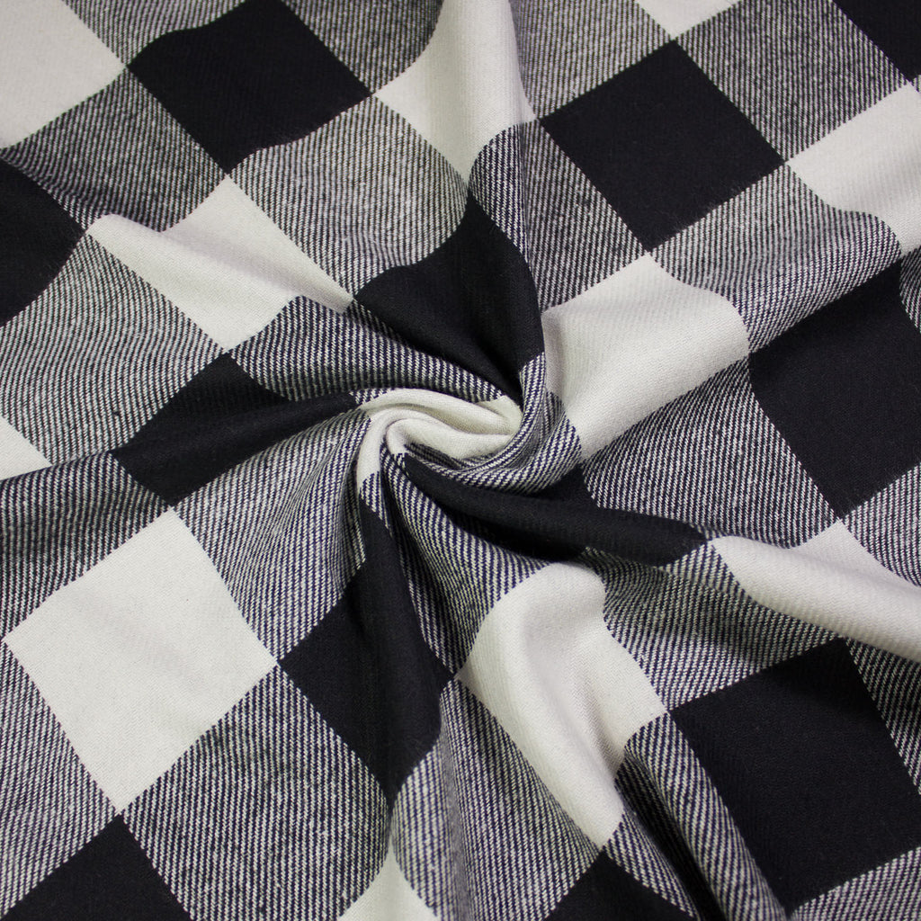 Dustin Black & White Check Flannel