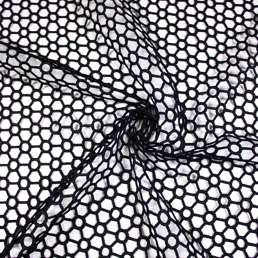 Nina Black Cotton Netting