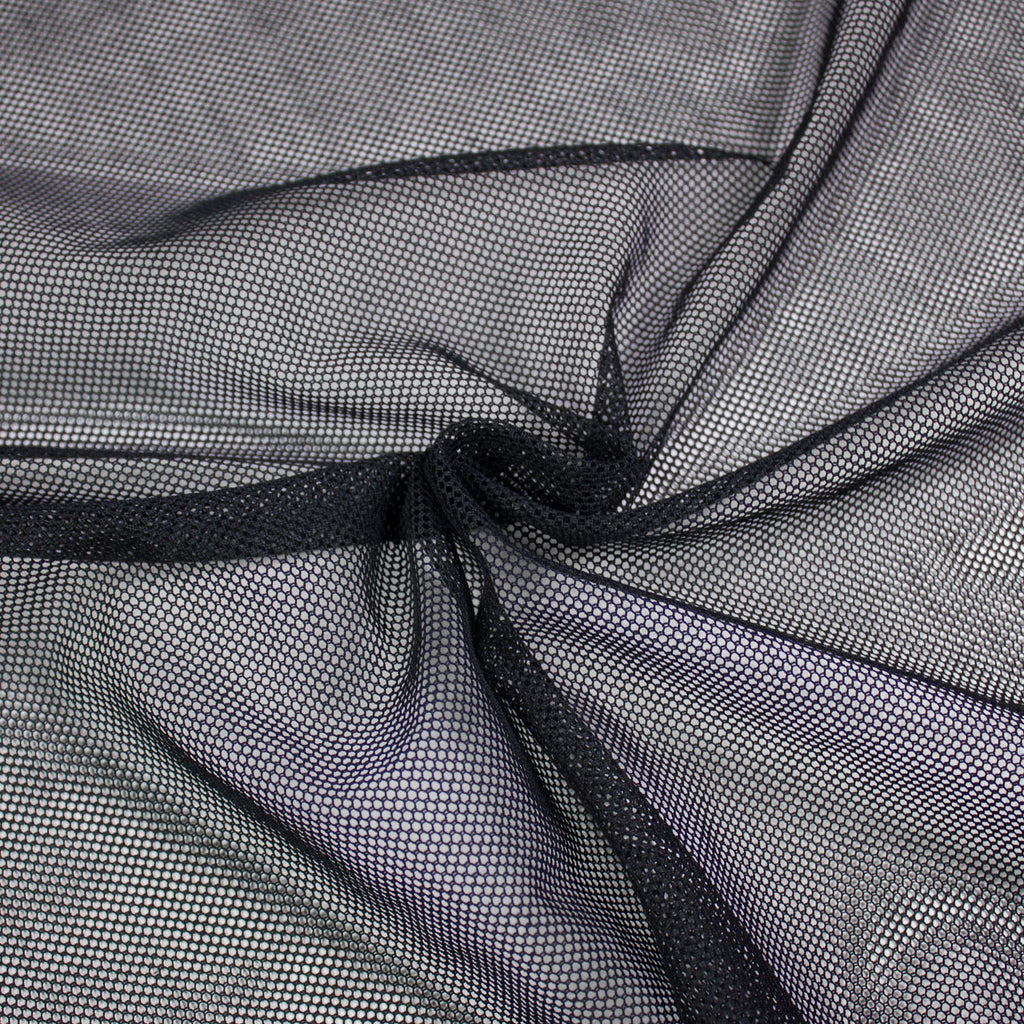 Max Black Netting Cotton Blend