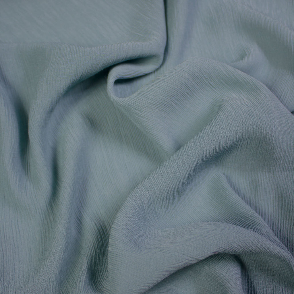 Archi Blue Green Cotton Voile Stretch
