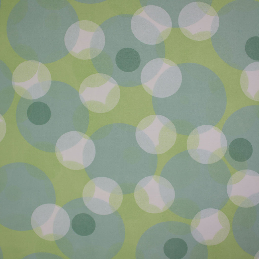 Tropical Green Dots Polyester