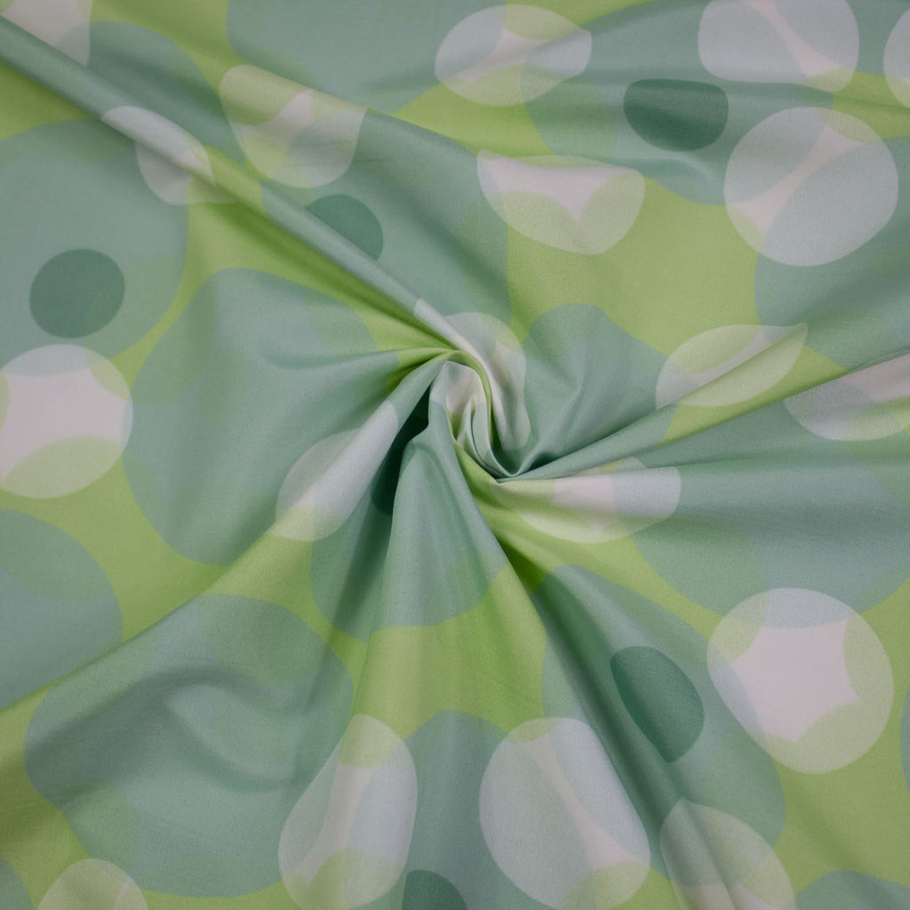 Green Dots Polyester