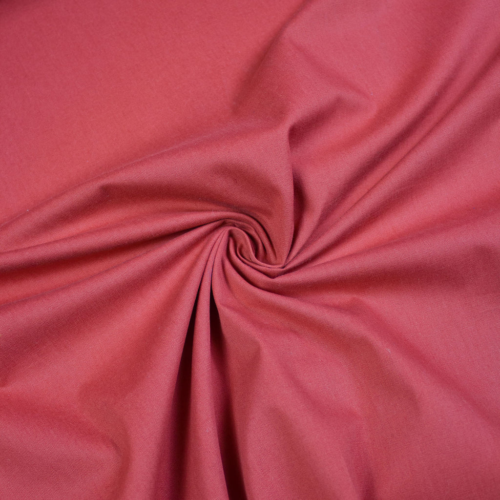 Red Cotton Polyester