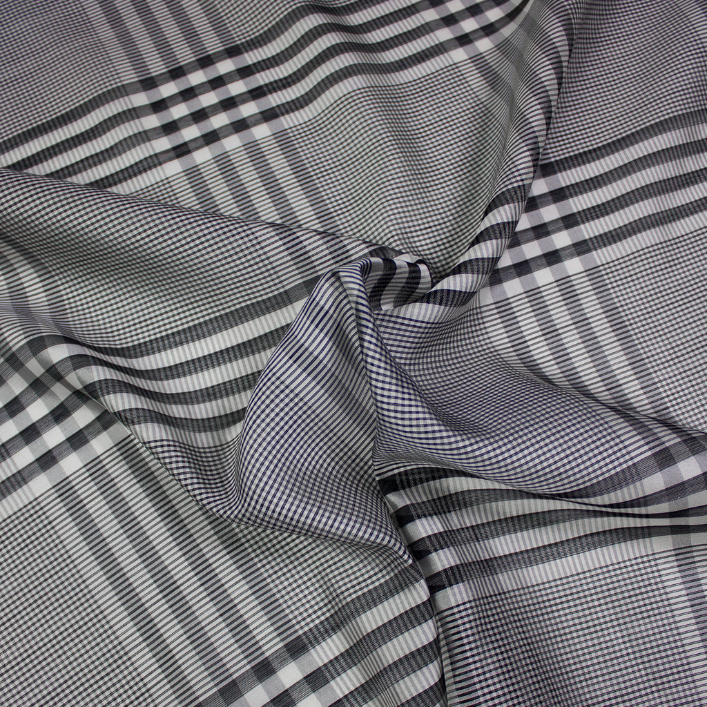 Chris Silk & Virgin Wool Check Voile