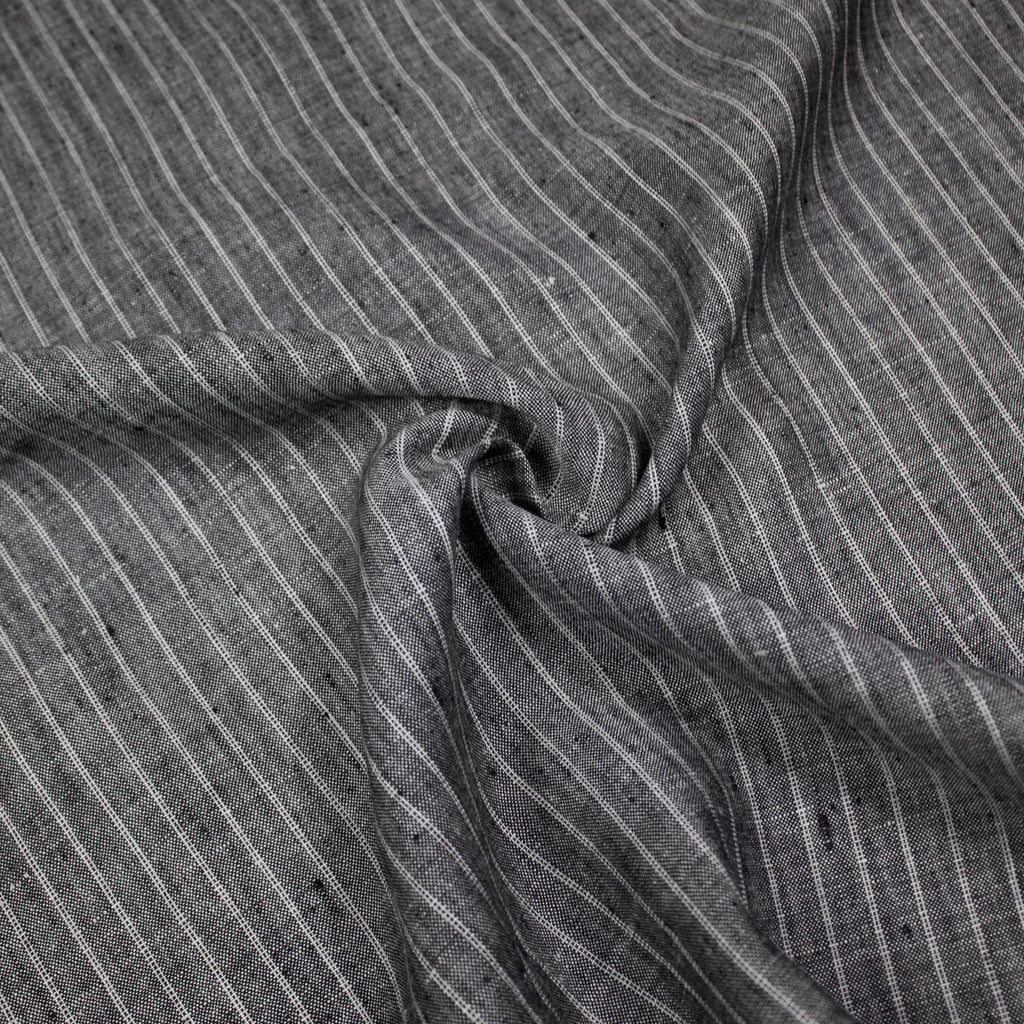 James Grey Stripe Linen