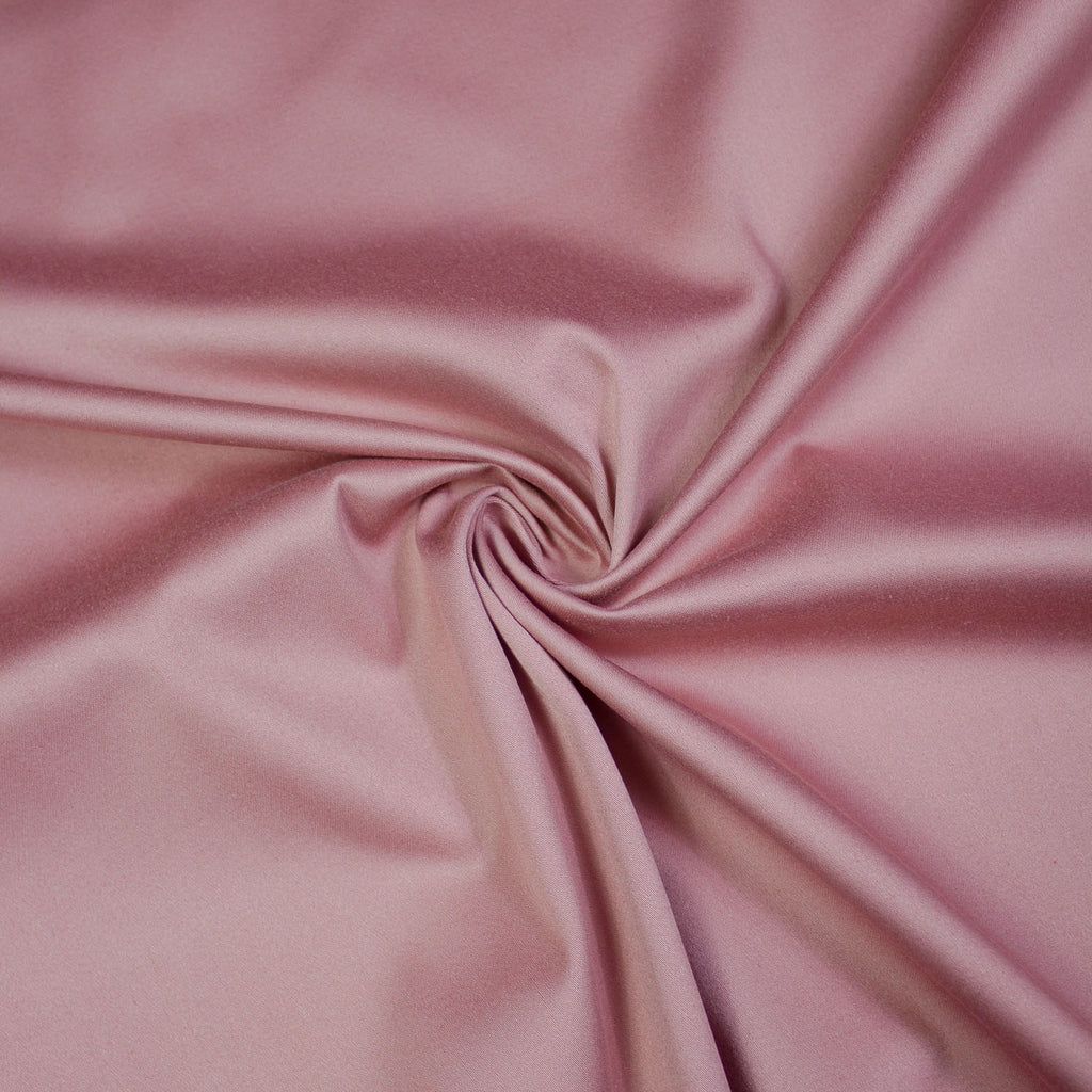 Emma Old Pink Satin Faced Cotton Stretch