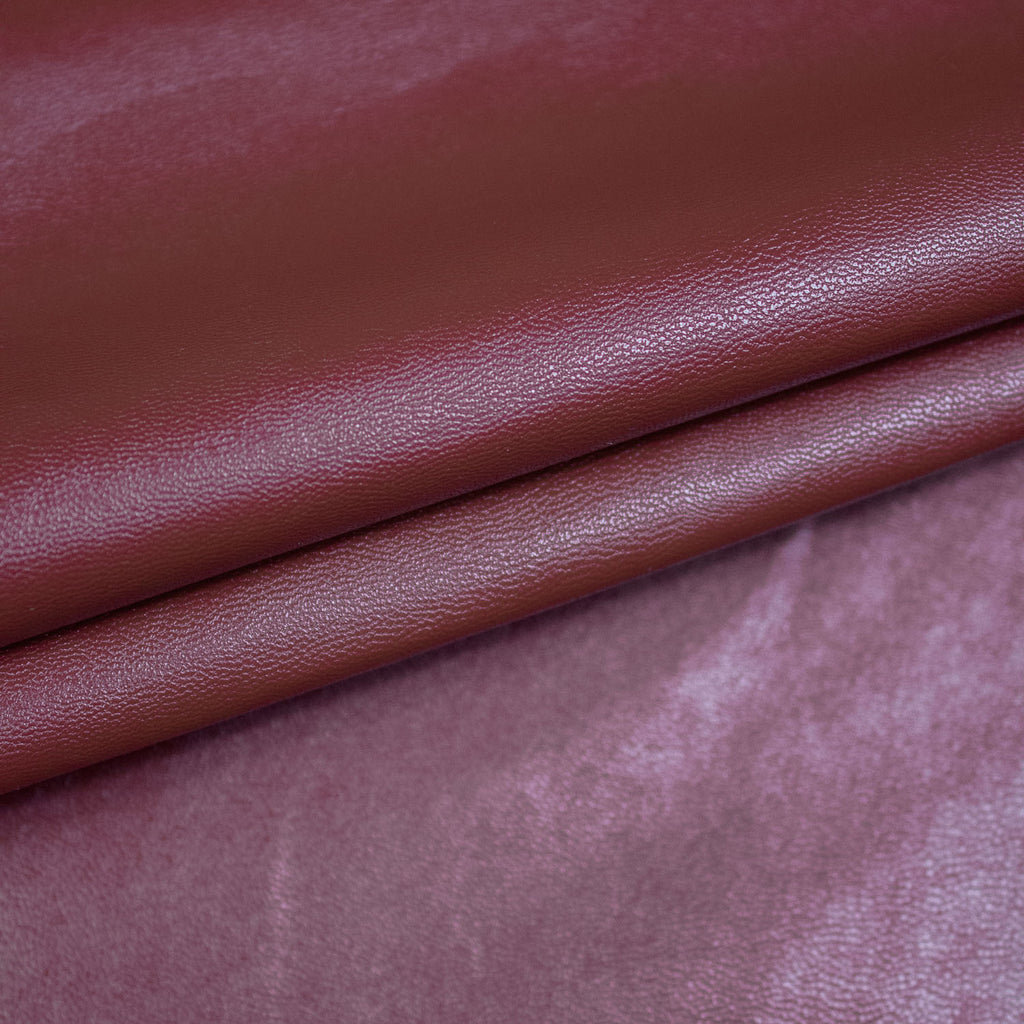 Beet Red Fake Leather