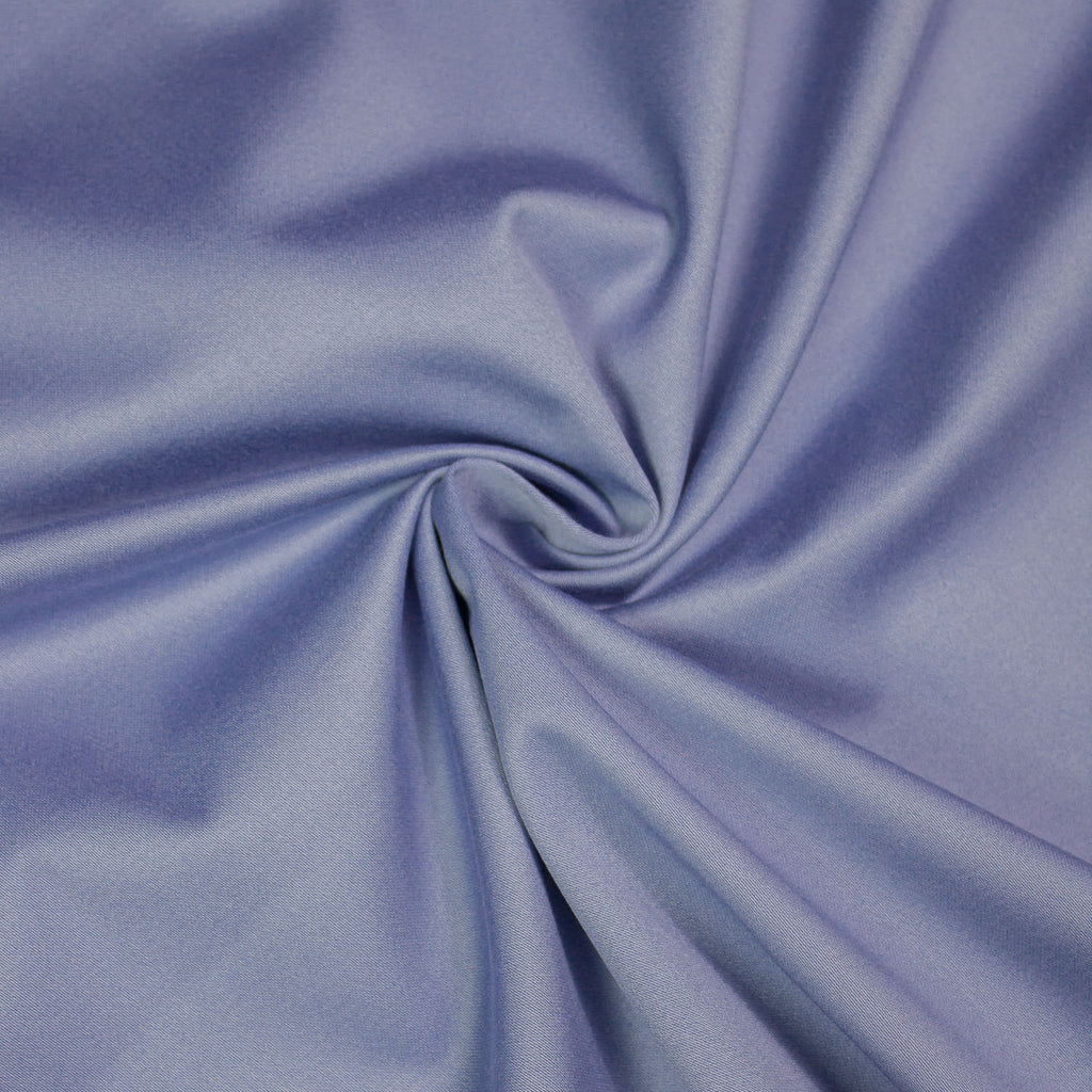 Emma Blue Satin Faced Cotton Stretch