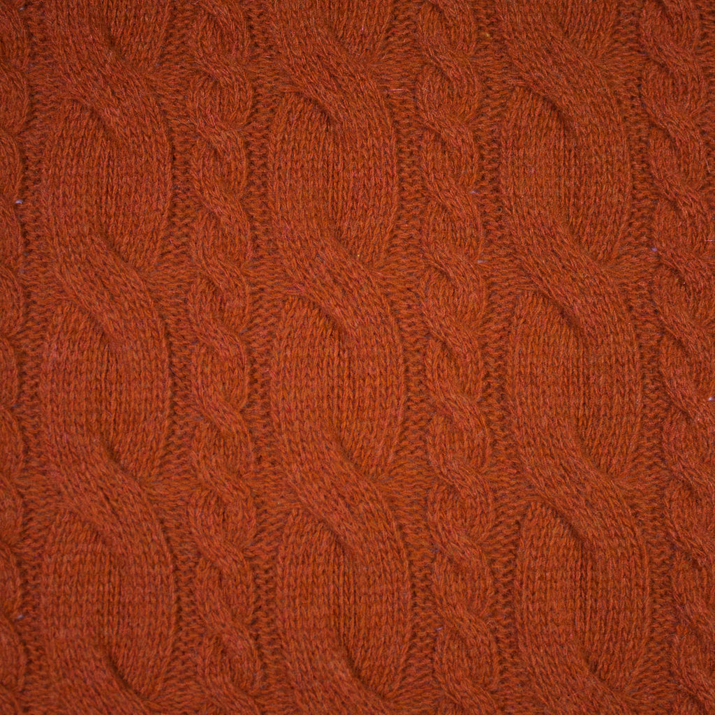 Chiara Rust Knitted Wool