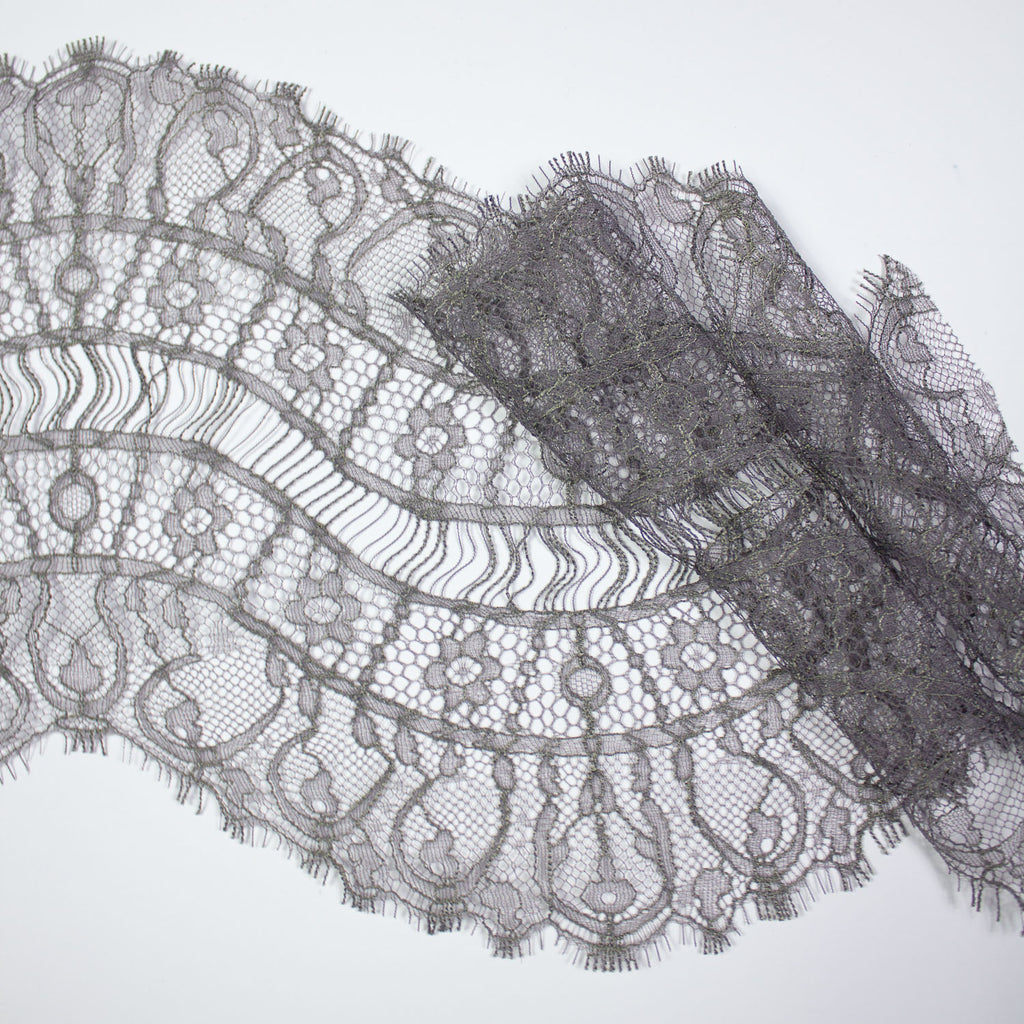 Grey Galon Haute Couture Lace