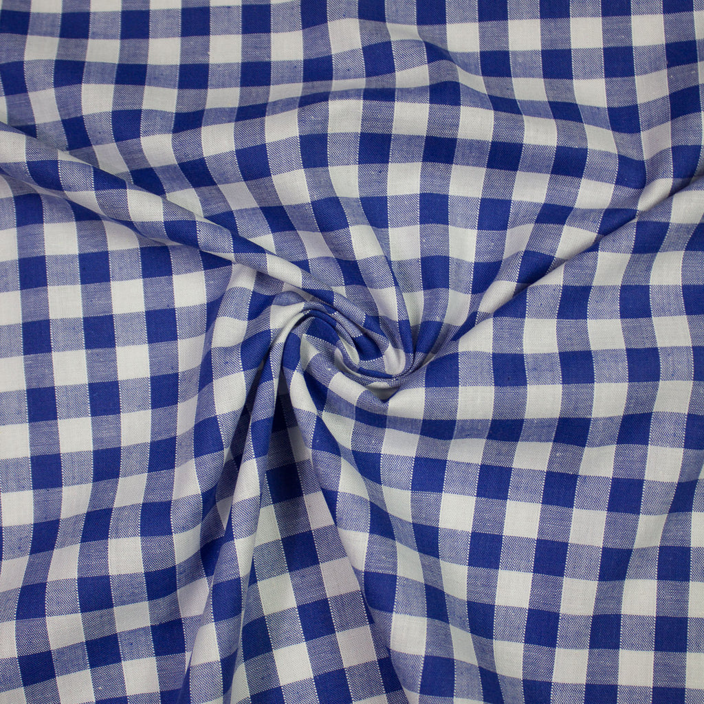Poline Blue and White Vichy Cotton