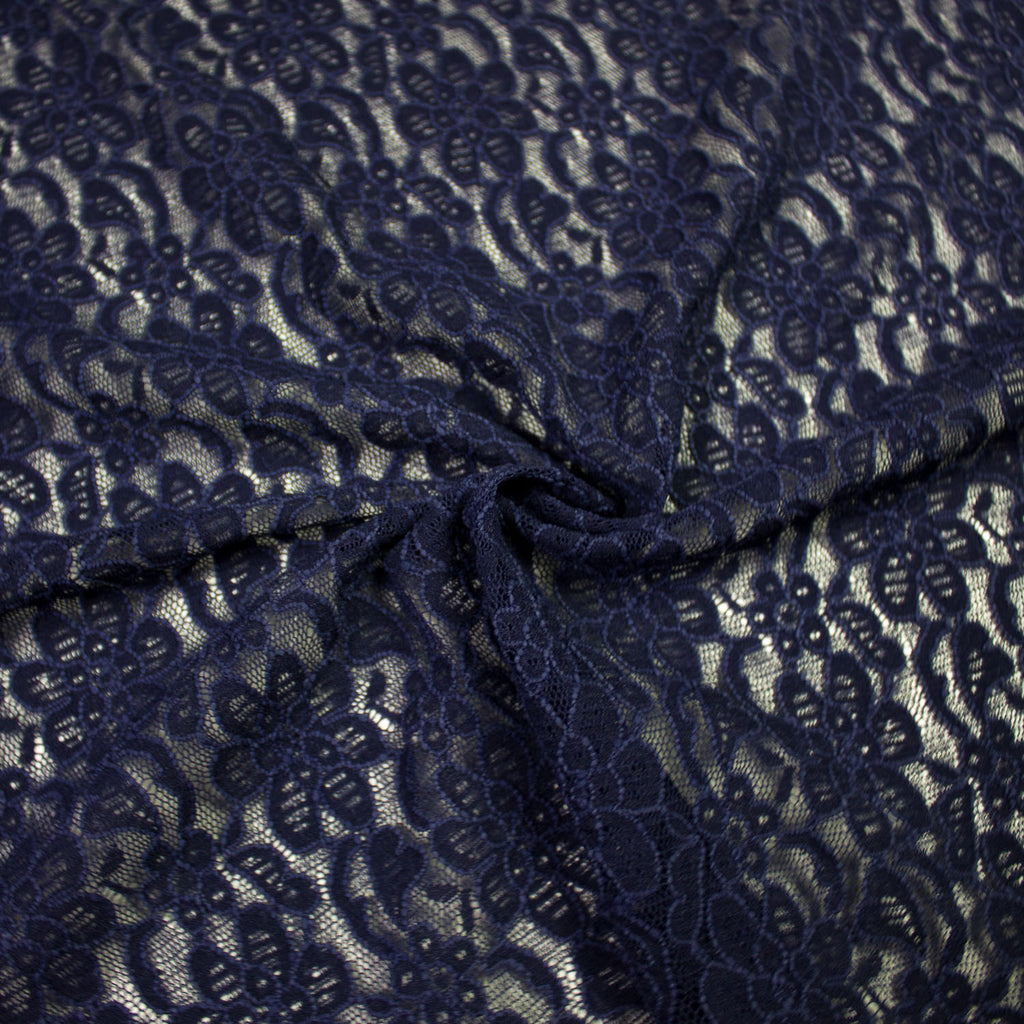 Nina Navy Lace Stretch