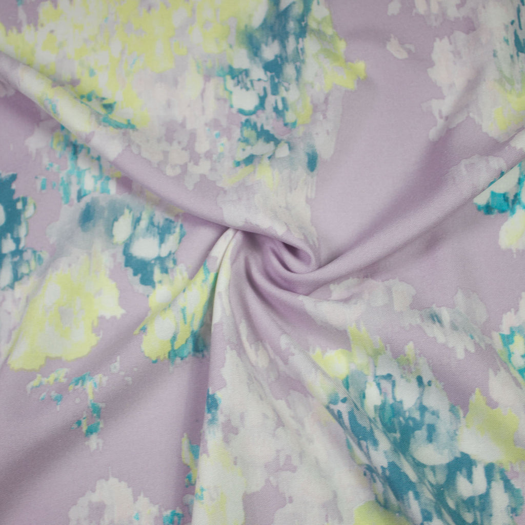 Rachel Lilac Abstract Viscose