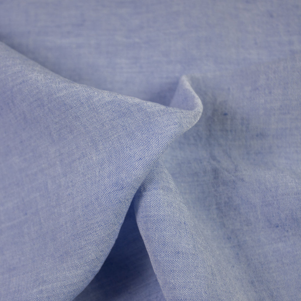 Jane Light Blue Linen and Viscose Blend