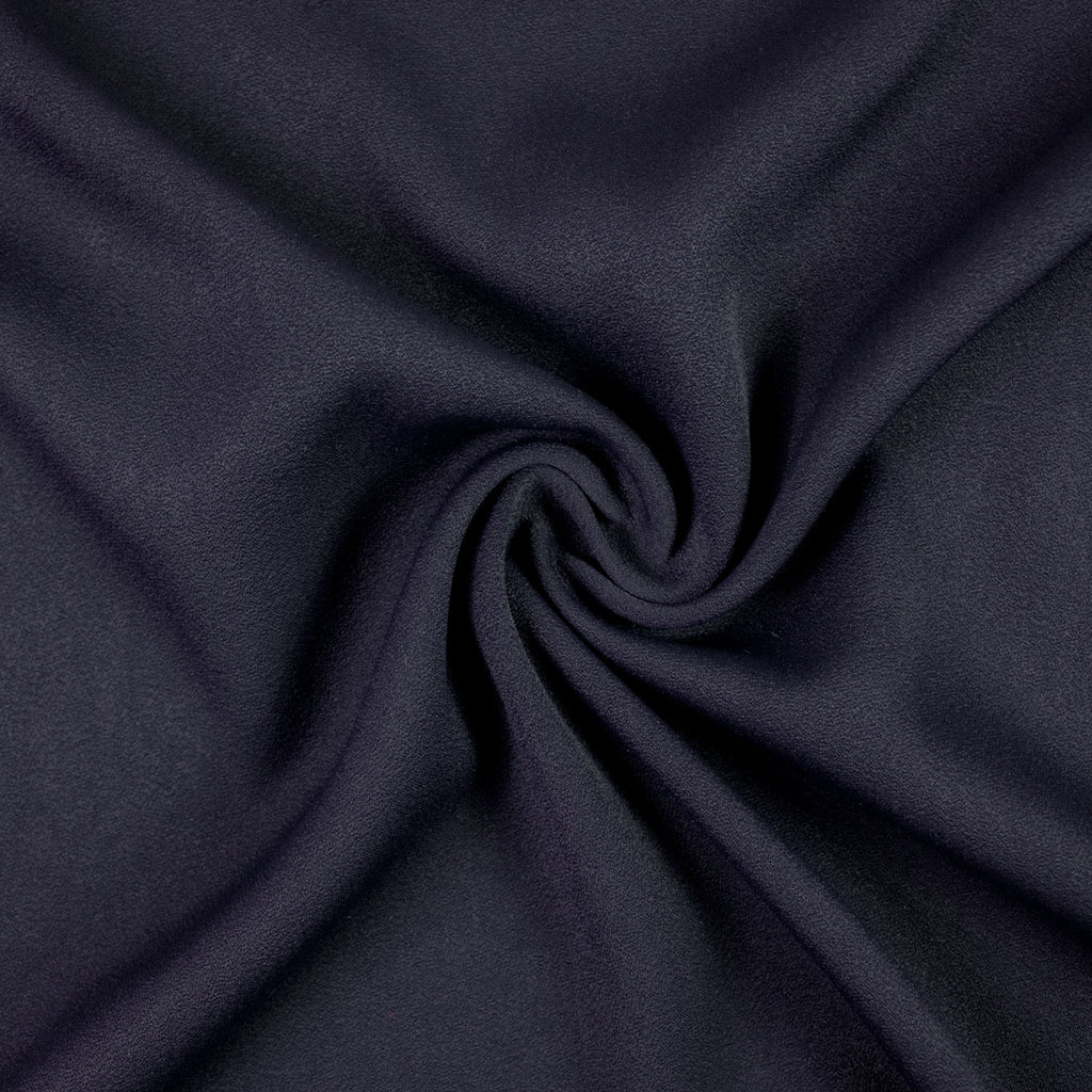 Sibe Navy Blue Viscose Blend Crêpe