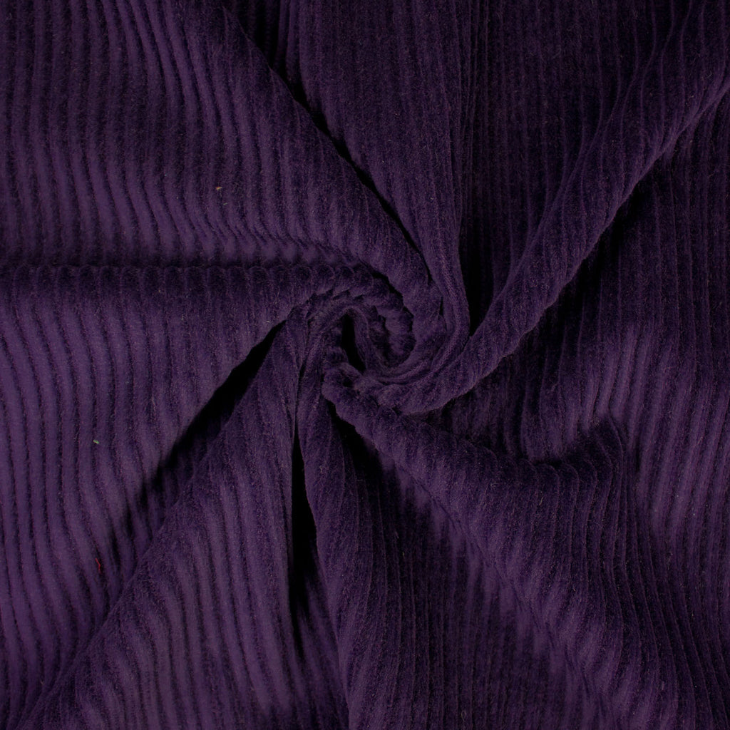 Hans Wide Wale Purple Cotton Corduroy