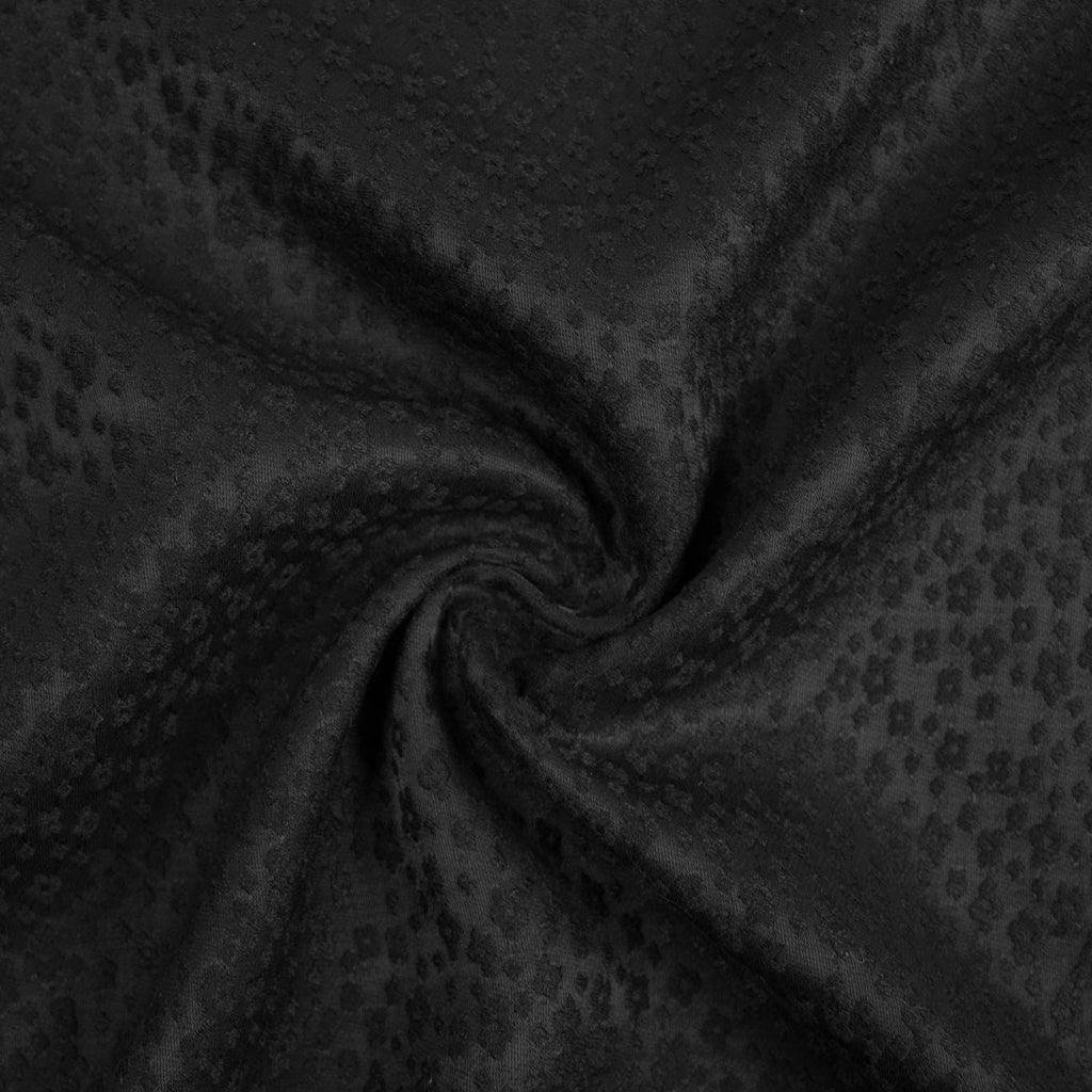 Courney Black Textured Viscose Blend