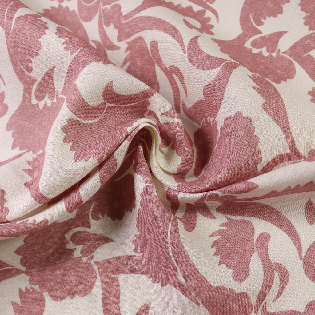 Nora Dusty Pink Floral Printed Linen