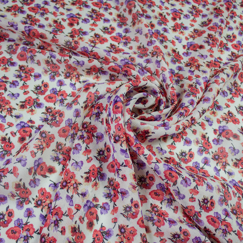 Tender Spring Flower Viscose Voile
