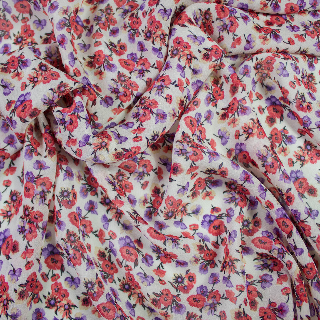 Spring Multicolour Flower Viscose