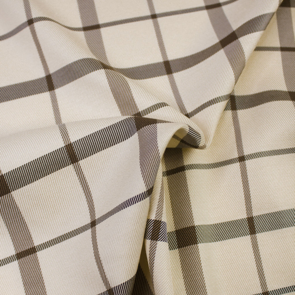 Campbell Ivory Brown Viscose & Wool Blend