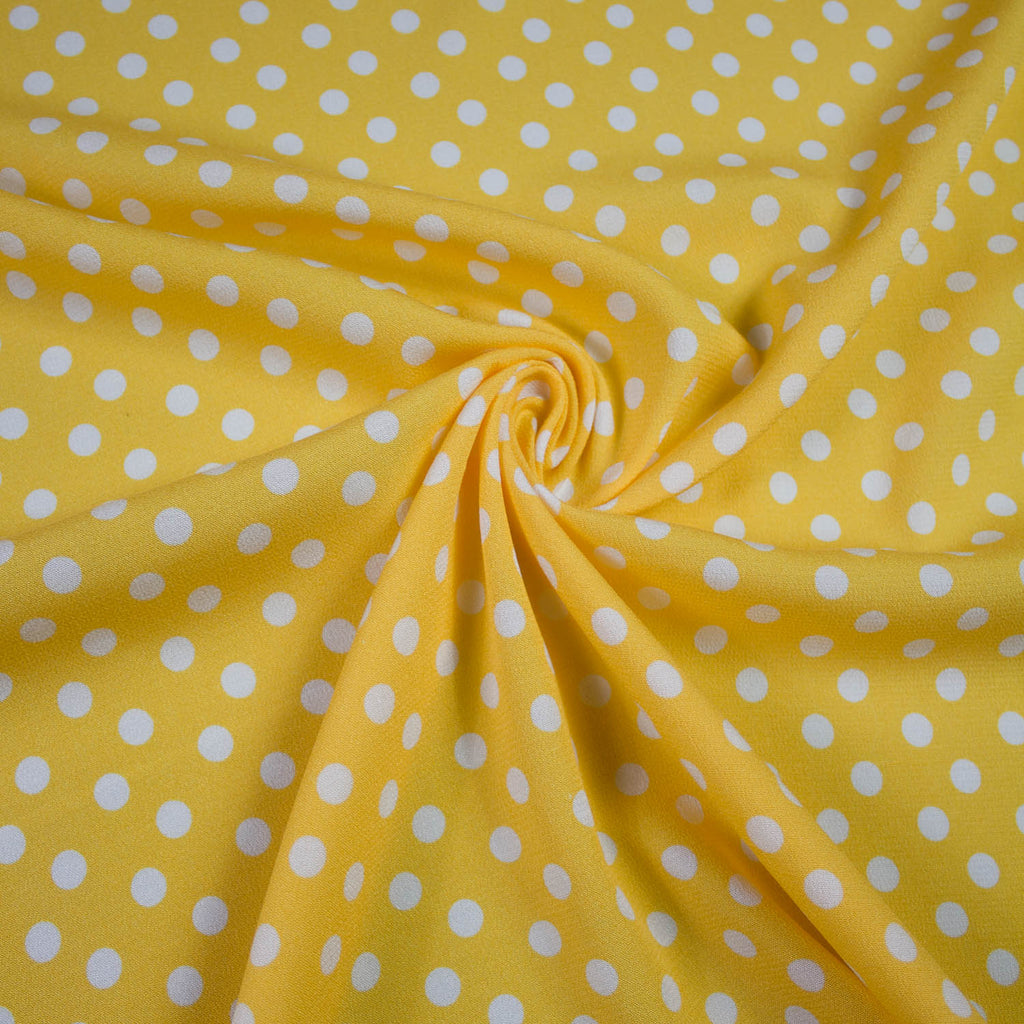 Banana Yellow Polka Dot Viscose