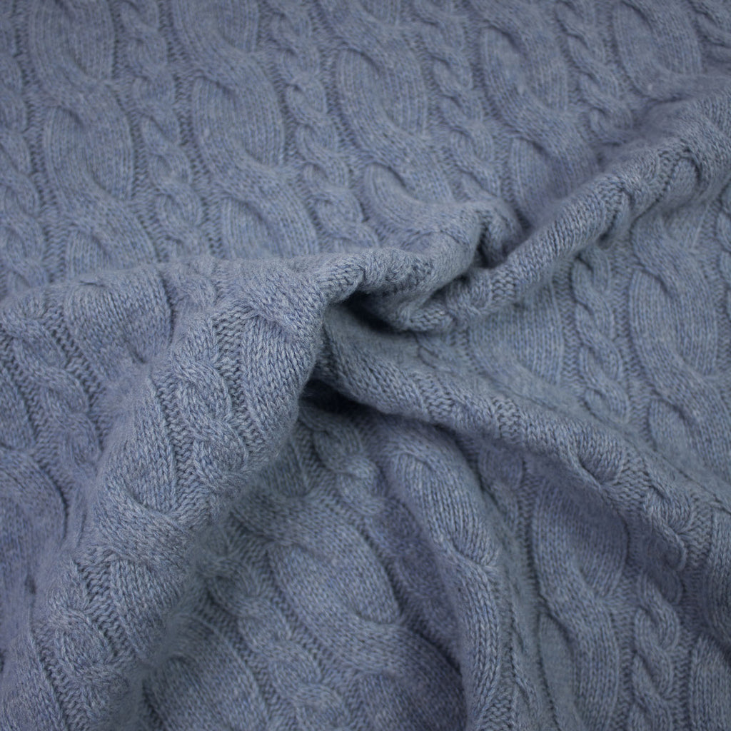 Jaclin Sky Blue Knitted Wool