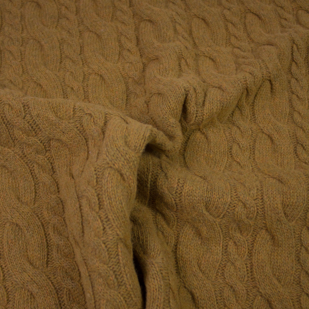 Jaclin Mustard Knitted Wool