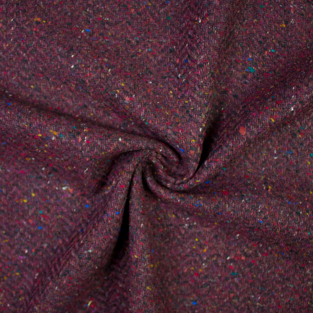 Elsa Purple Herringbone Wool