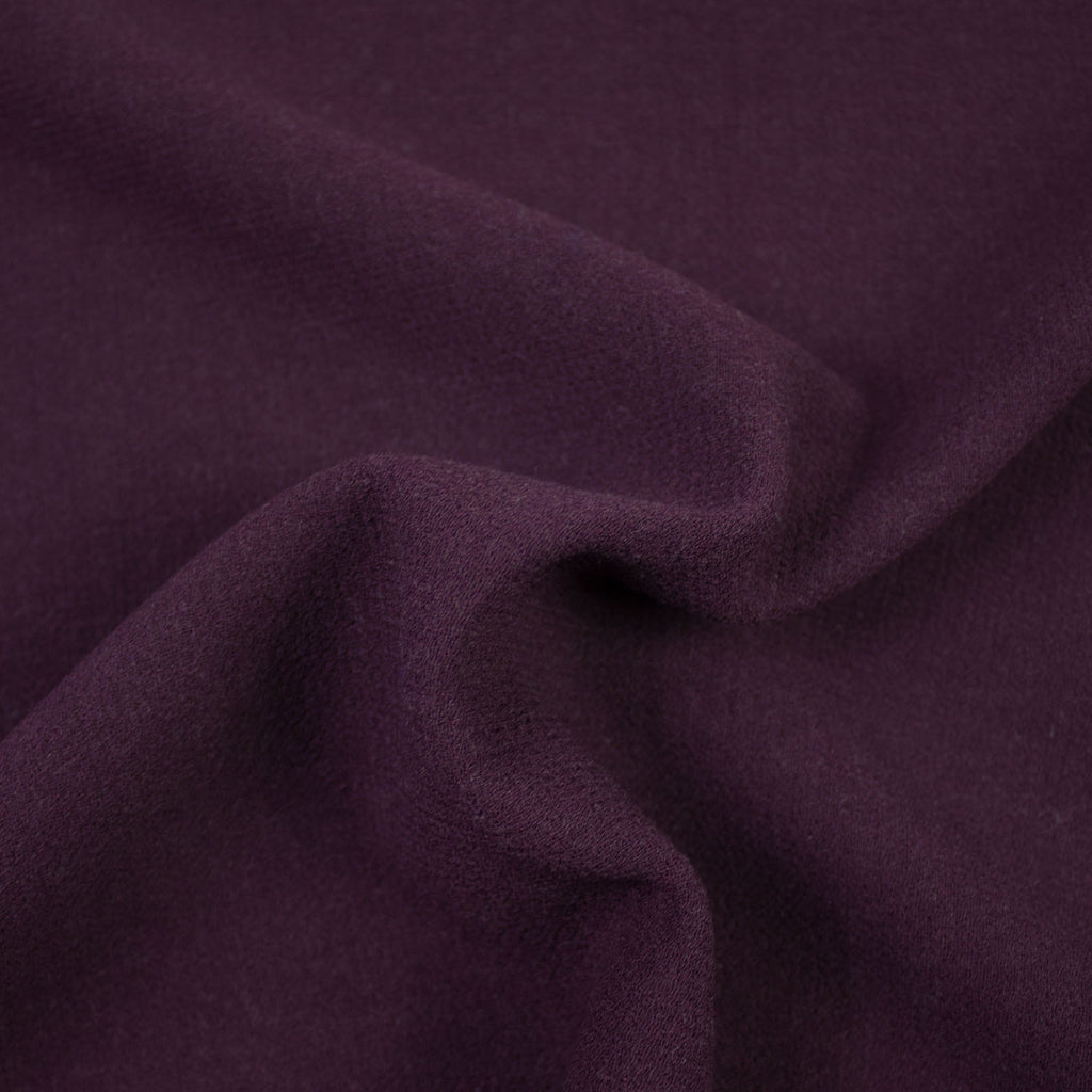 Laura Purple Wool Crêpe Stretch