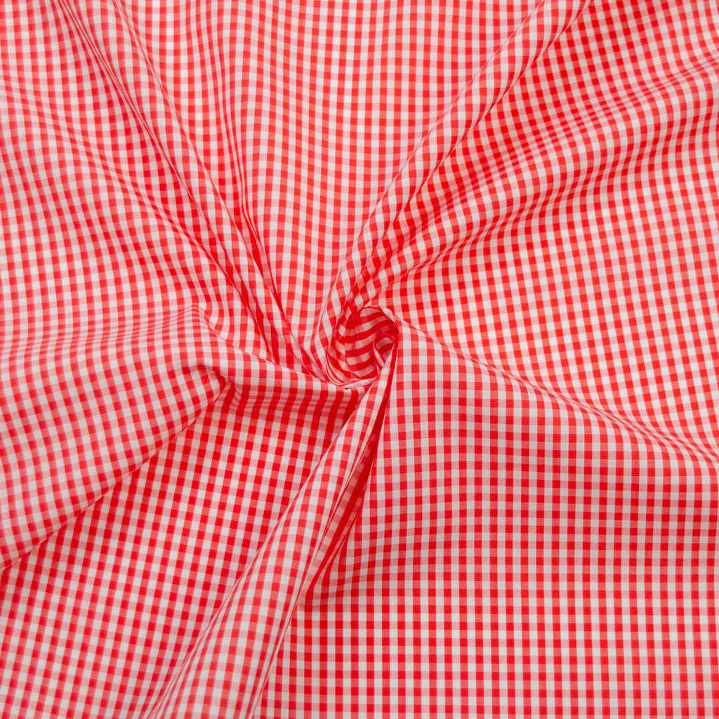 Miva Red & White Vichy Cotton