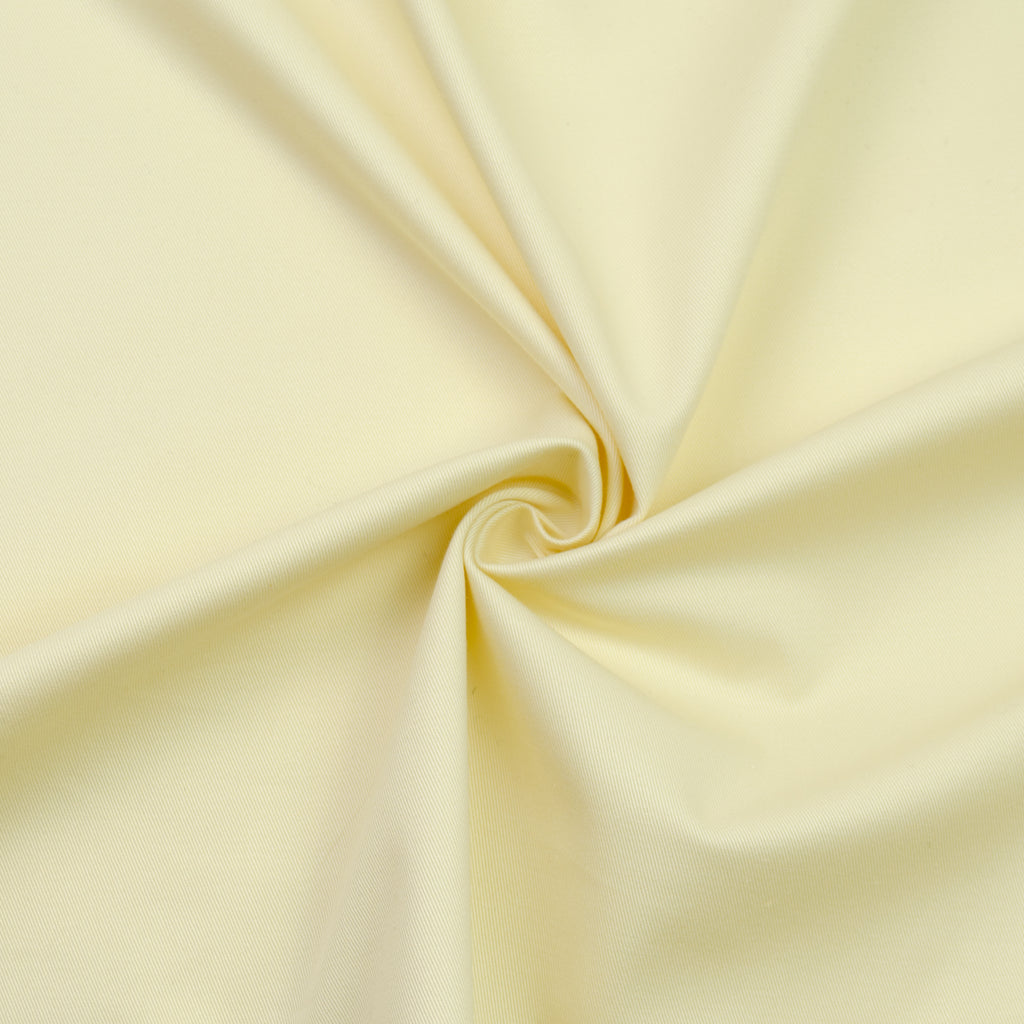 Cadenza Vanilla Yellow Cotton Stretch Gabardine